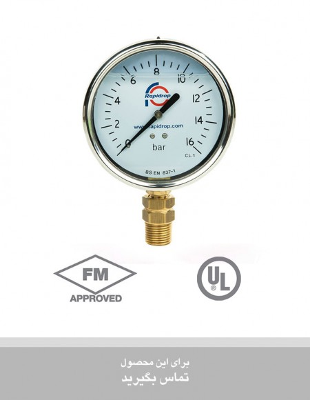 گیـــج فشار سنج Pressure Gauge Glycerine Filled